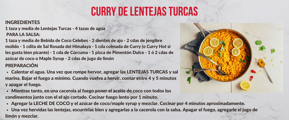 Curry de Lentejas Turcas