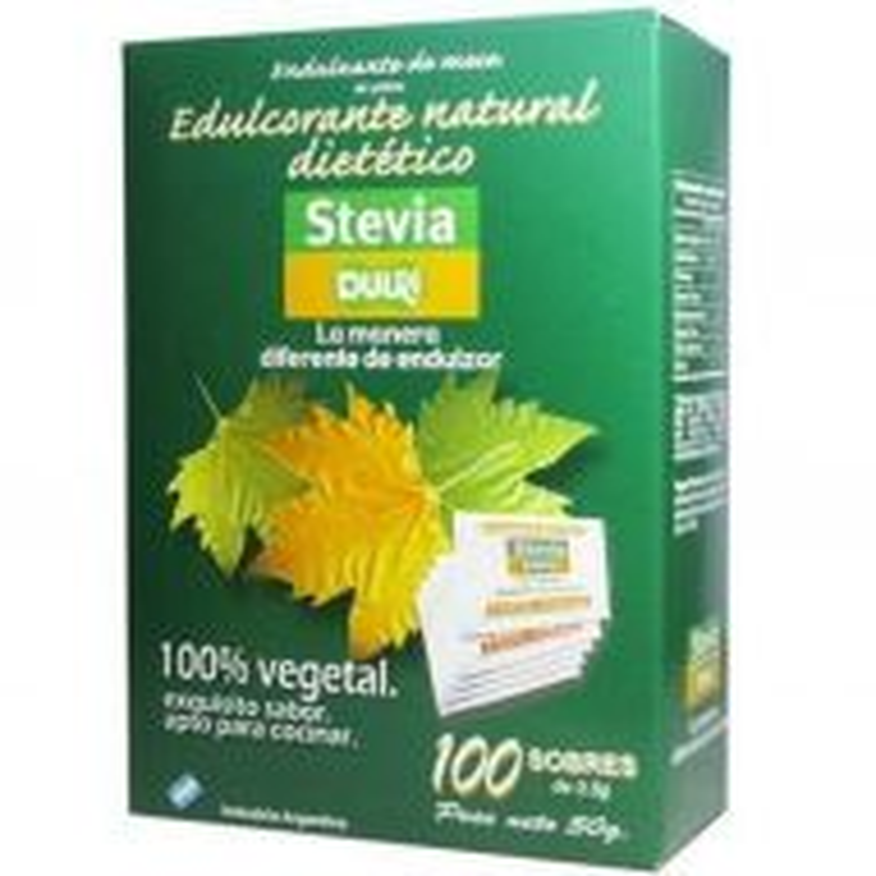 Edulcorante Stevia Dulri x 100 Sobres