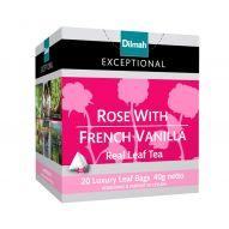 Te Dilmah Exceptional Rose French Vanilla x 20 saq