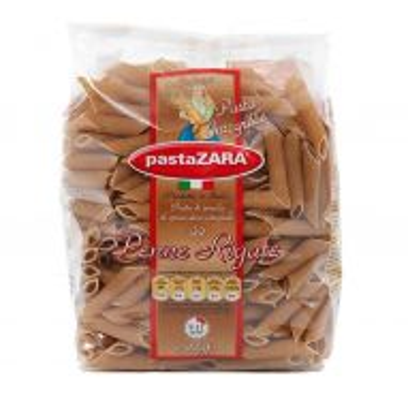Fideos Penne Rigate Integral x 500 g PastaZara Italianos